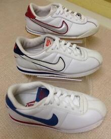 Size 2 Nike Cortez Leather Trainers, 3 for £26