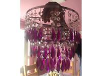 Elegant purple lamp shade