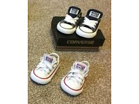 2 pairs of converse trainers size 3