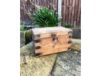 Rustic wooden trunk/ chest/ coffee table