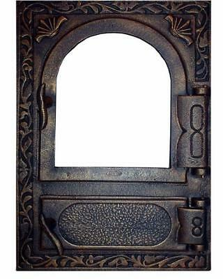 Cast Iron Fire Door Clay Bread Oven Pizza Stove Quality Gold (FL) 49 x 32,5