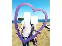 Wedding Events Heart Frame Photo Prop