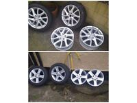 """16"""" & 17""""alloys in perfect condition for Mazda and others."""