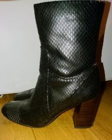 Womens size 4 Faux animal skin Boots by TU