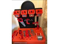 Kids WORKSTATION bench with tools............smoke free home