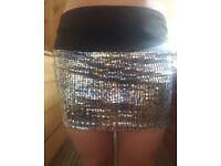 river island sequin skirt