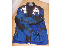 Triumph Fully Armoured Waterproof Motorcycle Jacket Amour XL Textile