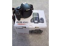 Canon EOS 450D + kit, 2x lens and Bag