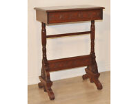 Small Antique Victorian Carved Mahogany Occasional Side Hall Bedside Table
