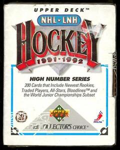 1991-92 UPPER DECK .... HIGH # FACTORY SET .... 200 hockey cards