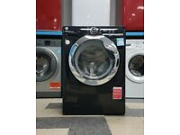 wd5098 black & chrome hoover 10kg 1400 spin washing machine with warranty can be delivered