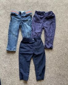 Baby toddler 12-18 months trousers jeans bundle
