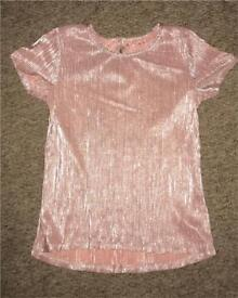 Girls dressy Pink shimmery top age 11-12 years
