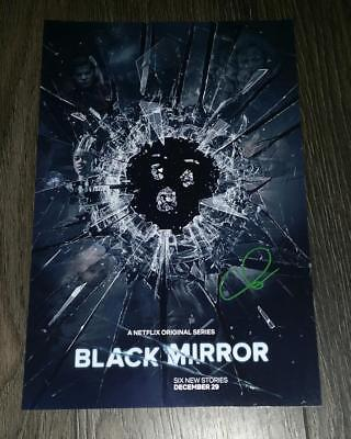 """BLACK MIRROR PP SIGNED 12""""X8"""" A4 PHOTO POSTER AUTOGRAPHED CHARLIE BROOKER"""