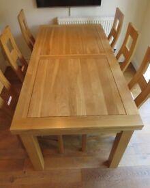 Dorset 6ft x 3ft Natural Solid Oak Extending Dining Table