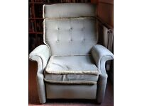 Light green recliner sofa