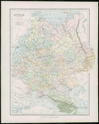 1903 Original Antique Colour Map - RUSSIA POLAND BAKU Arctic Ocean  (22)