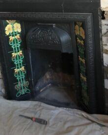 Victorian fireplace in London W7