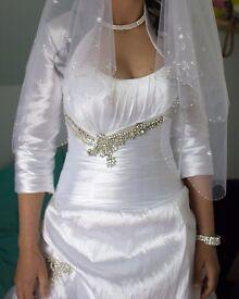 wedding dress size 8/10