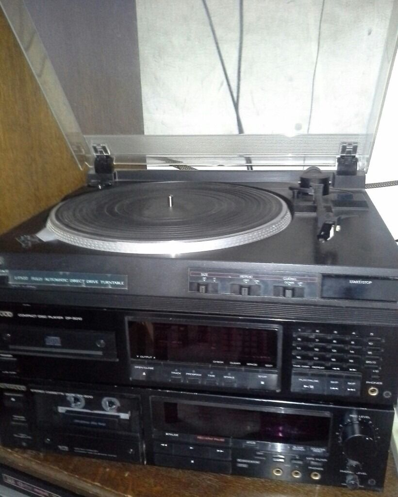 hi fi seperates jvc turntable kenwood tape deck cd. Black Bedroom Furniture Sets. Home Design Ideas