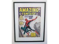 Amazing Fantasy 15 Spider-Man Poster Framed Comic BooK