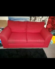 Large comfy red sofa