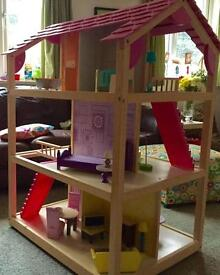 Kidcraft two sided dolls house, fits Barbie size dolls