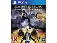 Mint like new ps4 game/ Saints Row 2 games in 1 / cash or swaps