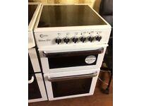Flavel E50 White Silver Freestanding electric cooker