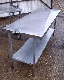 Stainless Steel Table.Catering Equipment,Work Bench 183cm X 66cm Height:83 cm