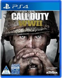 CALL OF DUTY WORLD WAR II PS4 - EXCELLENT CONDITION-