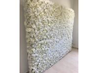 Flower wall for hire ivory