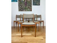 Erik Buch for Møbler Vintage Mid Century Modern Set of 6 Teak Danish Chairs FREE LOCAL DELIVERY