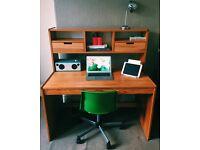 Large Solid Wooden Desk For Sale