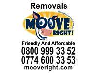 0800 Removals Man & Van Service Moove Right!