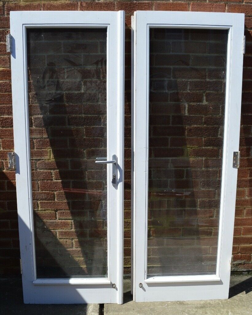 Wooden Double Glazed Patio Doors (without Frame)