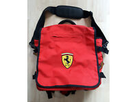 FERRARI RED HOLDALL/BACKPACK - OFFICIAL LICENSED PRODUCT