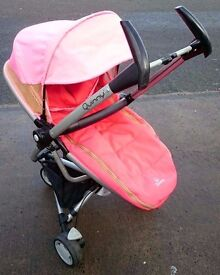 Quinny Zapp Xtra in Blush with Footmuff & Raincover