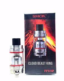 SMOK TFV12 Cloud Beast King Tank 100 % Authentic Silver