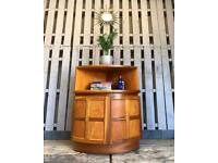 Vintage retro teak corner cabinet cupboard mid century Nathan