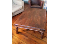 Beautiful, large solid-wood coffee table