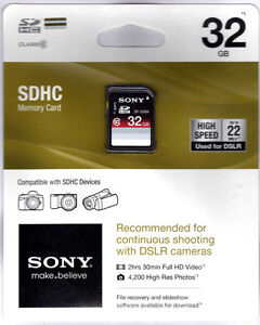 Sony-32-GB-SDHC-Memory-Card-Class-10-SF-32NX-TQ2-SD-Sealed-Package