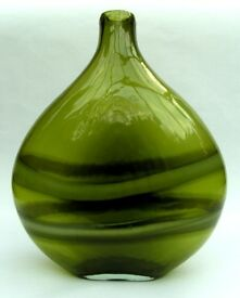 Next Large Onion Shaped Glass Vase - Stunning Green Colour
