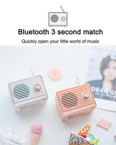 Retro Bluetooth Speaker Portable Wireless Speaker Loudspeaker for Smartphones Audio Docks & Mini Speakers