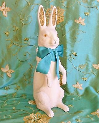 Cody Foster L Vintage Style Easter Bunny Rabbit Candy Container New Paper Mache