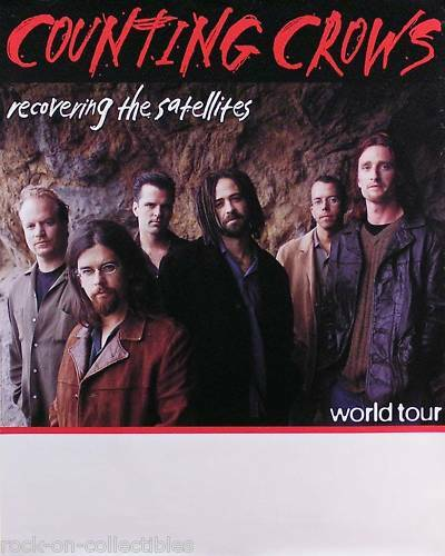 Counting Crows 1997 Recovering The Satellites Original Tour Promo Poster