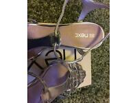 NEXT size 5.5 silver sandals