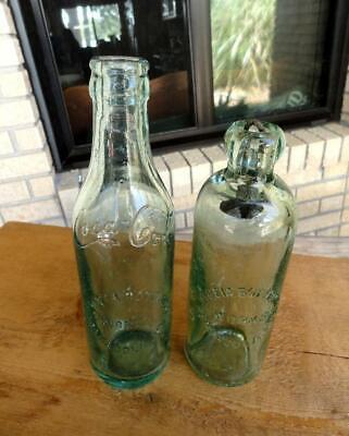 PENSACOLA, FLA HYGEIA SS Coca Cola COKE & HUTCHINSON SODA BOTTLES ~early 1900's~