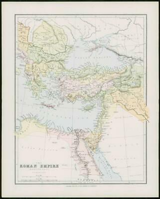 1903 Original Antique Colour Map  - EASTERN ROMAN EMPIRE  (54)