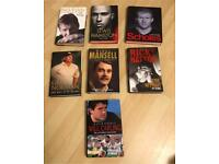 Sports Personalities Hardback Books £3 each